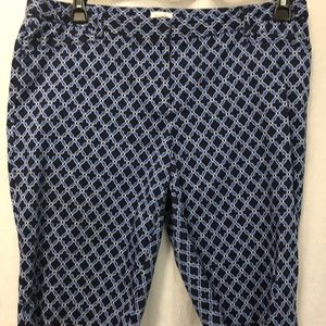 Laundry by Shelli Segal Navy Blue Print Shorts